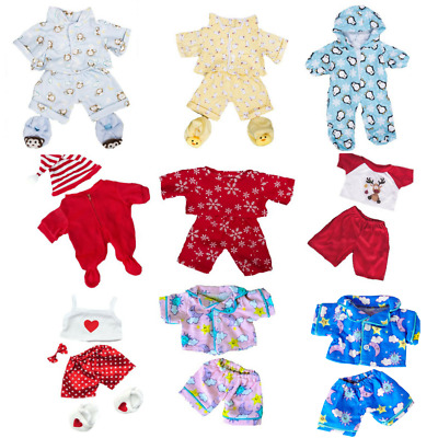 "TEDDY BEAR CLOTHES OUTFITS pink/blue/red PYJAMAS PJ- For 8""-10"" 20cm Teddy Bears"