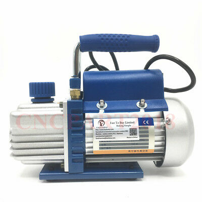2.12CFM Rotary Vane Vacuum Pump Single Stage 220V 1/5HP for Air Conditioner HVAC