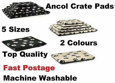Ancol Soft Dog Puppy Pet Crate Pad Bed Pillow Cushion Mat All Sizes Washable