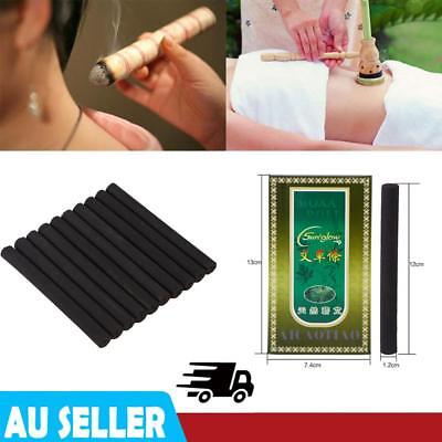5 Years 10Pcs Old Traditional Moxa Roll Moxibustion Relieve Pain Burner Stick AU
