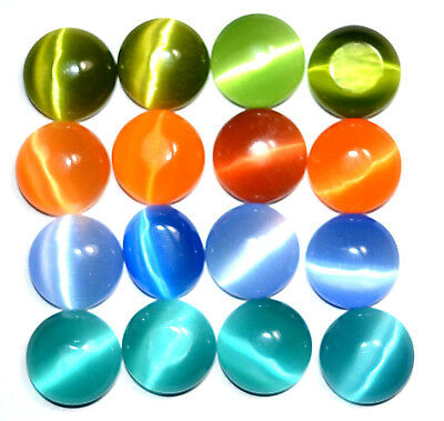 95.15 Ct Natural Multi-Color Quartz Cat's Eye Cabochon 16 Pcs Top Quality Gem