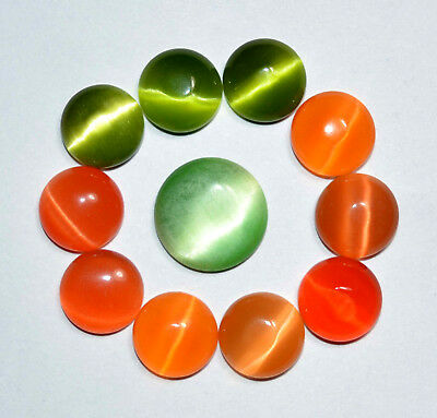 69.35 Ct Natural Multi-Color Quartz Cat's Eye Cabochon 11 Pcs Top Quality Gem