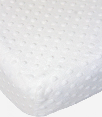 Cot Cotbed Swinging Crib Fitted Dimple Minky Mattress Sheet