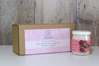 Blackadder Candles Scented Candle Kit - Floral Fragrances - Country Garden