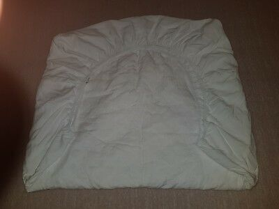 "1 x ""BUBBA BLUE"" WHITE QUITLED COT MATTRESS PROTECTORS IN GOOD USED CONDITION"