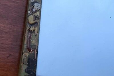 Antique / Vintage Chinese Painted / Lacquer Gold work Large Easel Mirror