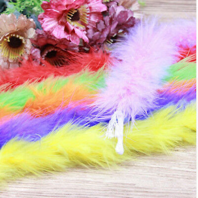 2/5/10yard/strip fluffy feather boa super quality marabou feather boa for party