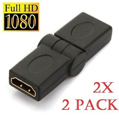 2x HDMI Female to Female 90°-180° Adapter Converter COUPLER JOINER CONNECTOR