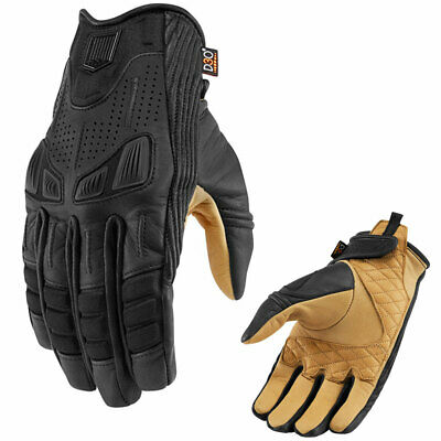 Icon 1000 Axys Leather Textile Motorcycle Gloves