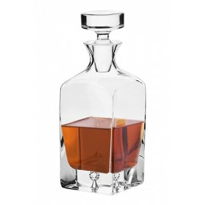 Crystal Glass Whisky Decanter 750ml Brandy Liqueur Sherry Scotch Carafe Gift New