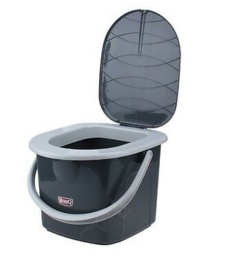 16L Portable Camping Toilet Bucket Seat Detachable Lid Outdoor Trip Festival New