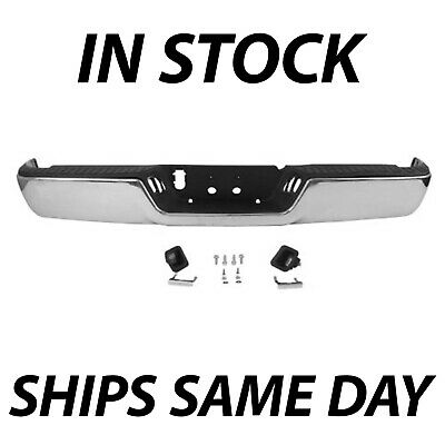 NEW Complete Steel Chrome Rear Bumper Assembly for 2009-2018 Dodge RAM 1500 Pkup