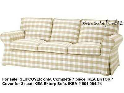 Tremendous Ikea Cover For Ektorp Sofa 3 Seater Slipcover Bergvik Beige Tan Check 601 054 24 Download Free Architecture Designs Rallybritishbridgeorg