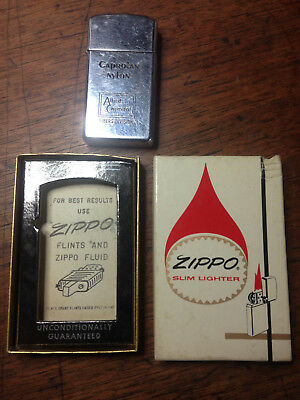 Vintage with box  Zippo Cigarette Lighter engraved