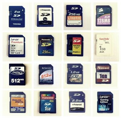 Secure Digital 16MB 32MB 128MB 256MB 512MB 1GB 2GB SD Card with Case