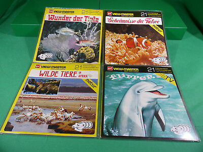 GAF View Master - Lot  Reels  x4  -Ladenfund Großformat NOS - Lot 9