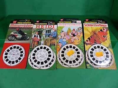 GAF View Master - Lot  Reels  x4  -Ladenfund auf Karte NOS - Lot 12