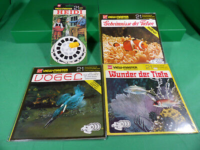 GAF View Master - Lot  Reels  x4  -Ladenfund Großformat NOS - Lot 5
