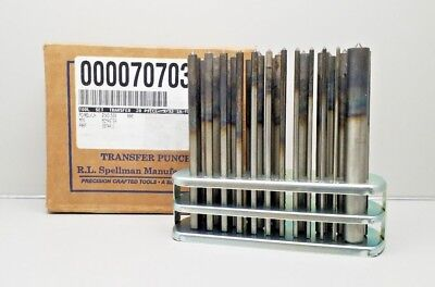 """New R.l. Spellman 3374A11 Mcmaster Transfer Punches 3-17 Set 3/32""""-1/2"""" X"""