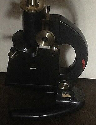 Vintage Microscope Prior Of London Good Condition Retro Uk Engineering Film Prop