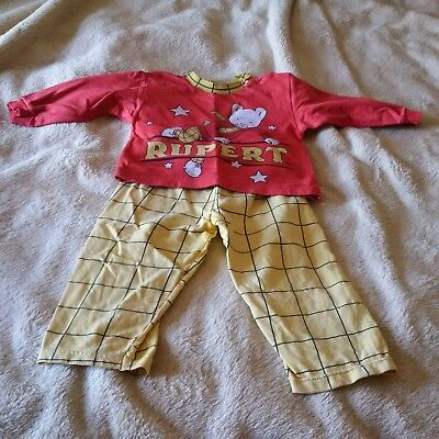 Vintage Rupert bear Pajamas By St Michael (Marks and Spencer) Age 2 1990s