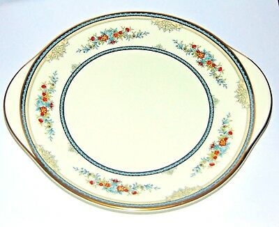 Minton Stanwood Fine Bone China Made in England Tab Handled 10 1/2 in Cake Plate