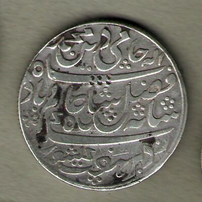 Bengal Presidency Mint Murshidabad RY19 One Rupee Silver Coin - Rare