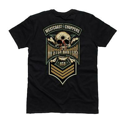 WCC West Coast Choppers T-Shirt Hipster Hunters Solid Black
