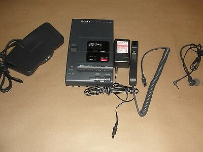Sony M2020 Micro Cassette Transcriber w/Foot Pedal, Mic, HeadPhone & Adaptor