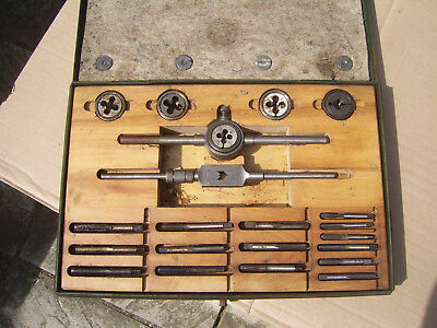 BSW Tap And Die Set Whitworth Ex MOD Wartime issue Vintage Army display ?