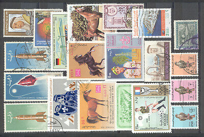 Lot of Middle East Stamps - Dubai, UAE, State of Kuwait,Yemen, Sharjah mint&used