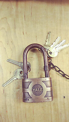 vintage /antique yale 937B  bicentric padlock 2 key for #50  4 different for #13