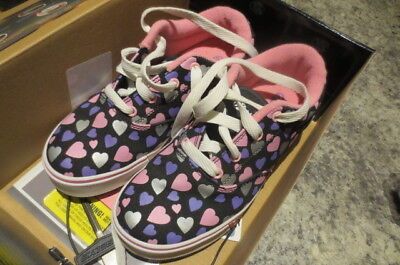 Heelys Black and Pink Love Heart Edition Rare UK Size 2