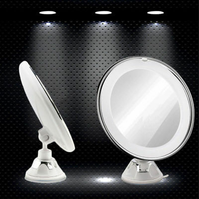 LED Lighted Makeup Cosmetic Mirror 7X Magnifying Suction Bathroom Vanity Mirror