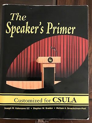 The Speaker's Primer Customized For CSULA Book
