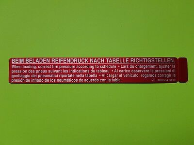 Original Mercedes Sticker A0005845039 W123 W124 W126 W116
