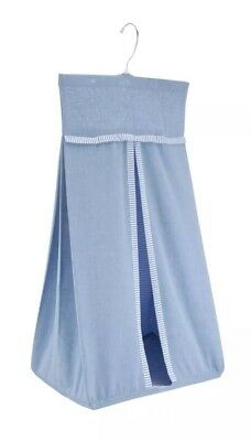 Brand new John Lewis blue chambray 100% cotton nappy stacker - RRP £18