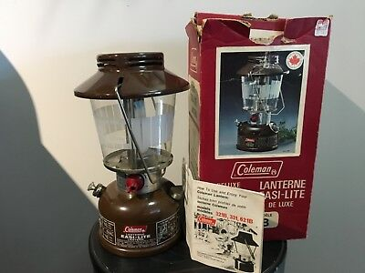 COLEMAN LANTERN 621B MADE IN CANADA 2 of 1977, MINT CONDITION, FIRED ONCE