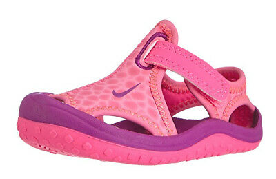 Nike Girls Sunray Protect PS Water Sandal Shoe Pink Purple Youth Size 11 C