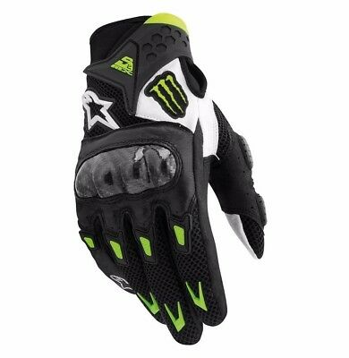New B&W Off Road Riding Monster Energy Summer Armor Protective Motorcycle Gloves