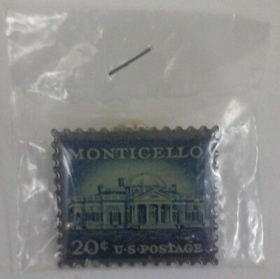 New Monticello 20 cent U.S. Postage Stamp lapel Pin