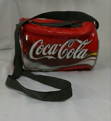 Coca Cola Can Shaped Insulated Lunch Bag or Cooler Plastic Adjustable Strap