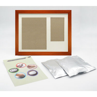 Handprint Casting Photo Frame Set 1 Brown Frame and 3 Pack White Clay