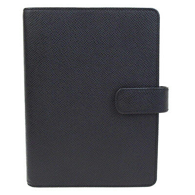 Auth LOUIS VUITTON Agenda MM Day Planner Cover Taiga Leather R20222 61V908