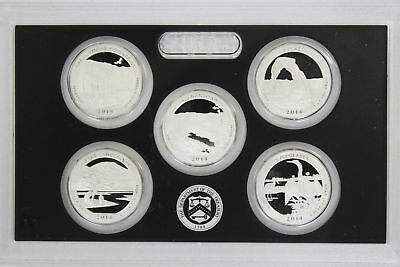 2014 Silver Proof State Quarter Set 90% Silver - No Box or COA's - 5 coins