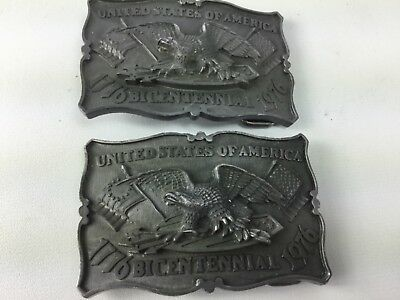 Vintage Swiss Miss Limited Editon Bicentennial 1776-1976   Belt Buckle Lot (2)