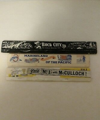 Vintage Full Matchbooks Rock City McCulloch, Marineland Of The Pacific