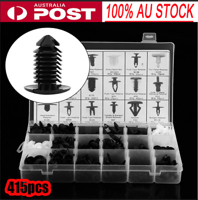 415Pcs Trim Clip Retainer Panel Bumper Fastener Clips  Kit For Ford Nissan
