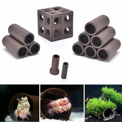 Aquarium Tank Tube Breeding Hiding Cave Shelter Decor Supplies For Fish Shrimp