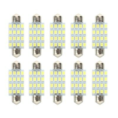 10 PCS 16 Torpedo Car Bulb LED SMD 3528 42 mm - White J7Q6